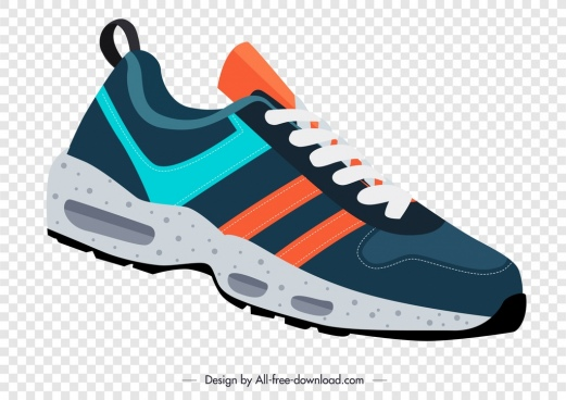 sport shoe template modern design colorful ornament