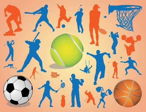 sport silhouettes vector