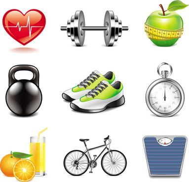 Fitness Icons Free vector in Adobe Illustrator ai ( .AI ...