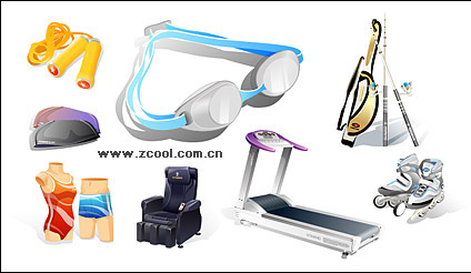 Sports and leisure equipment icon vector material
