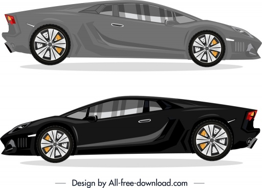 sports car advertising modern dark design