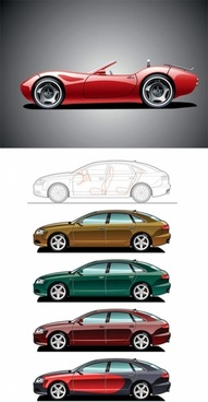 sports cars vector