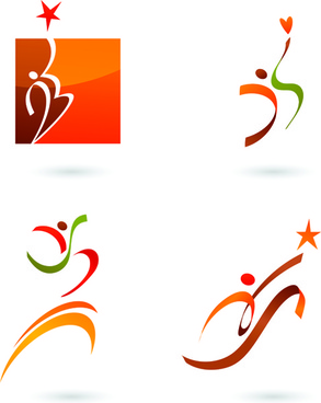 sports for logo people design vector