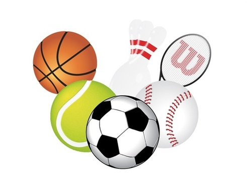 sports utensils collection vector illustration