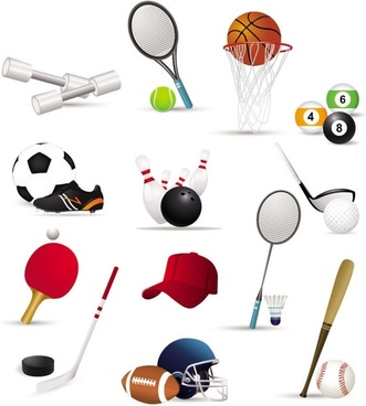 sportsrelated icons 02 vector