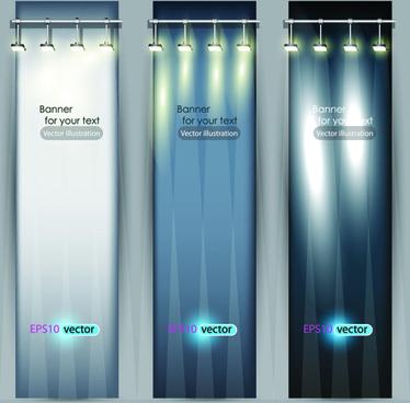 spotlight banner vector