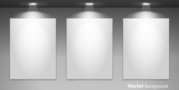 spotlight display wall background vector