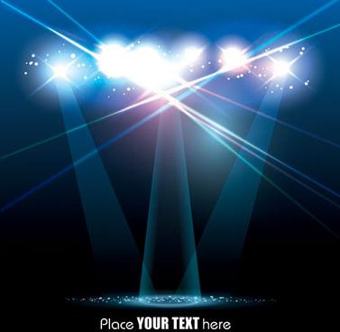 spotlight irradiate effect background vector