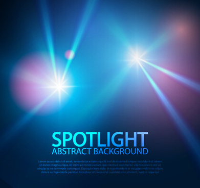 spotlight with blue background art