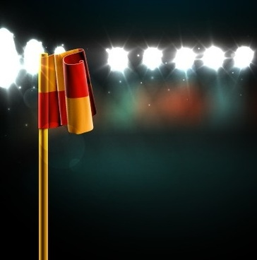 spotlights and flag design vector