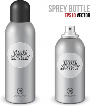 spray bottle cosmetics model vector