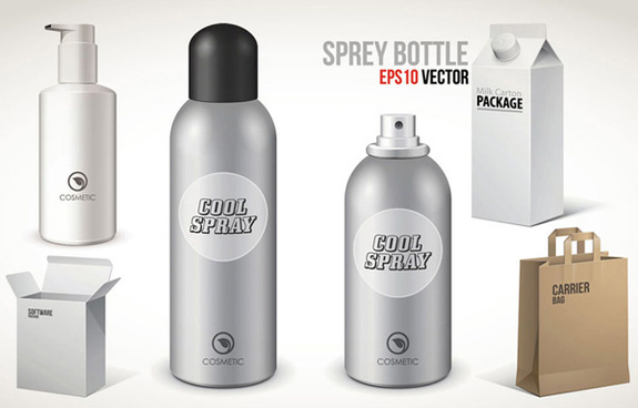 spray bottle package vector
