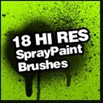 Spray Paint Splatter Brushes
