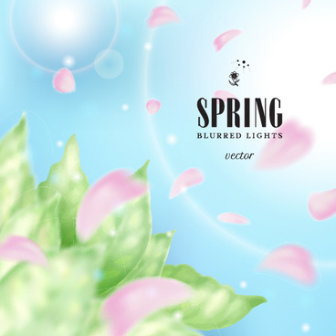 spring blurred lights vector backgrounds art