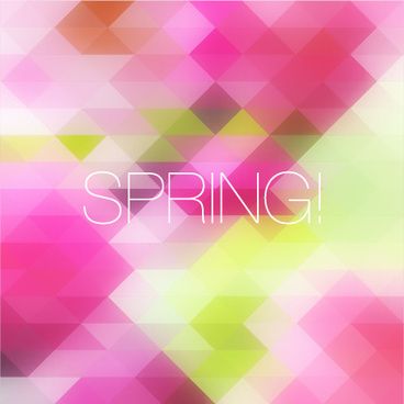spring colorful geometric shapes background