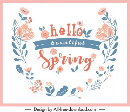spring decorative banner classical floral design