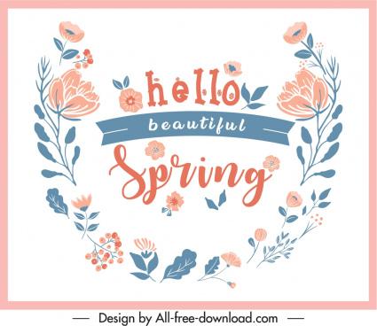 spring decorative banner classical floral design