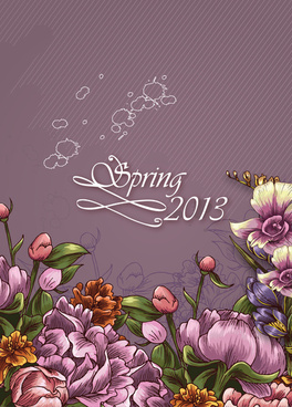 spring floral design vector background