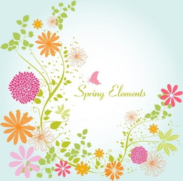 Spring Flowers Vector Free Vector Download 11782 Free Vector For