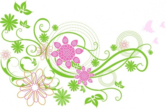 Spring flowers clip art free vector download 216332 free vector spring flower mightylinksfo