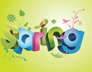 Spring Fun Text Vector EPS