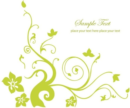 spring green floral vector illustration