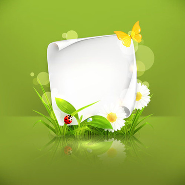 spring green grass background vector