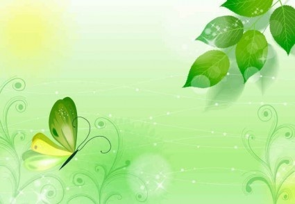 spring green leaf background vector design
