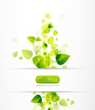 spring green leaves 04 vector