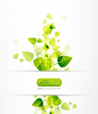 leaves background modern bright green blurred decor