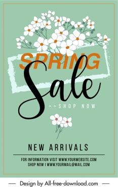spring sale banner elegant botany decor classical design
