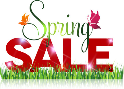 spring sale design graphics vector