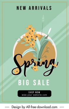 spring sale poster floras decor elegant vintage