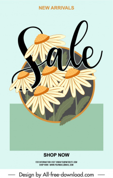 spring sale poster template elegant classical floral decor
