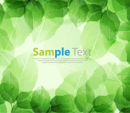 Spring Season Fresh Green Leaves Vector Background