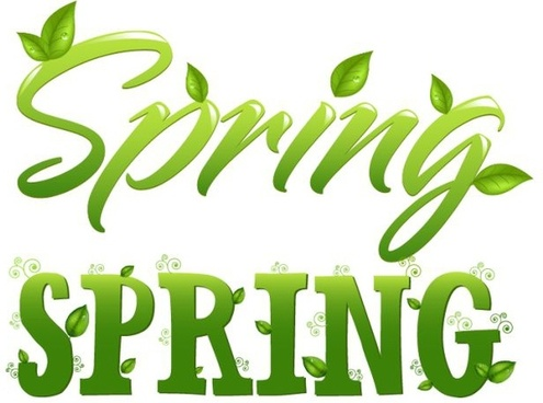 spring background leaf icon green calligraphic decor