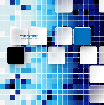 square and mosaics shiny background vector