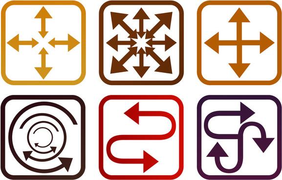 square arrow symbol set