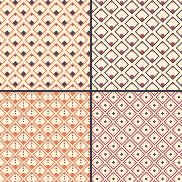 square decor fashion pattern
