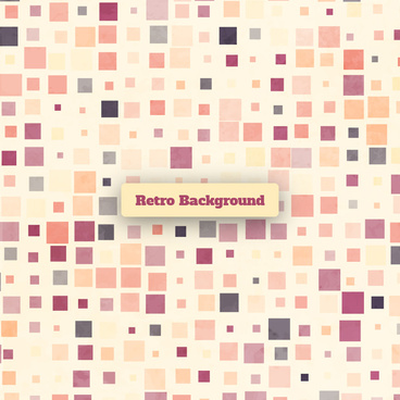 square dot retro background