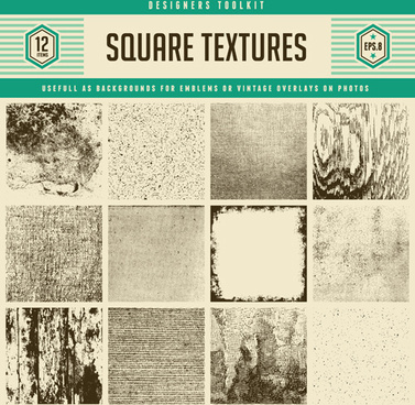 square grunge textures vector