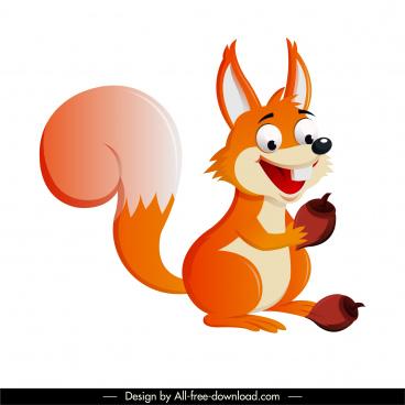 squirrel icon funny cartoon character sketch