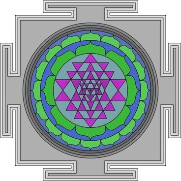 Sri Yantra clip art