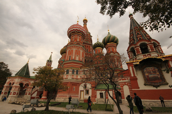 st basils cathedral pokrovsky cathedral moscows red square russia set2013
