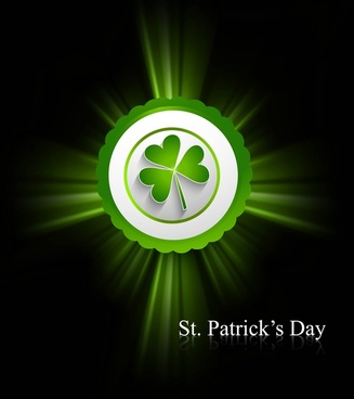 st patricks day background presentation vector illustration