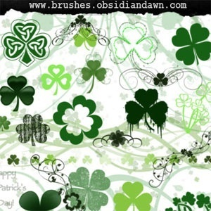 St. Patrick's Day Brushes