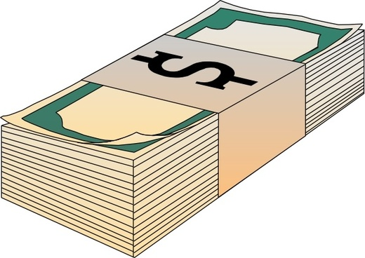 Stack Of Bills Money clip art