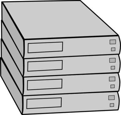 Stacked Servers Without Rack clip art