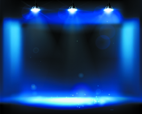 stage and spotlights design vector