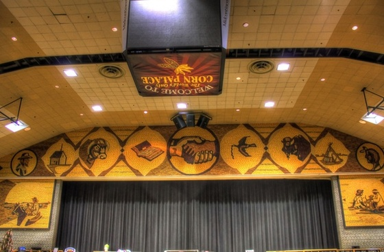 stage at the corn palace in mitchell south dakota